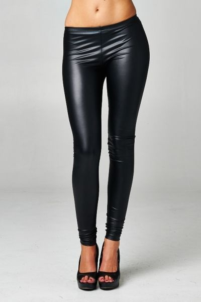 Super Hot Black Faux Leather Leggings. Great to wear with boots or heels!  Fast FREE Shipping! Shop Now: