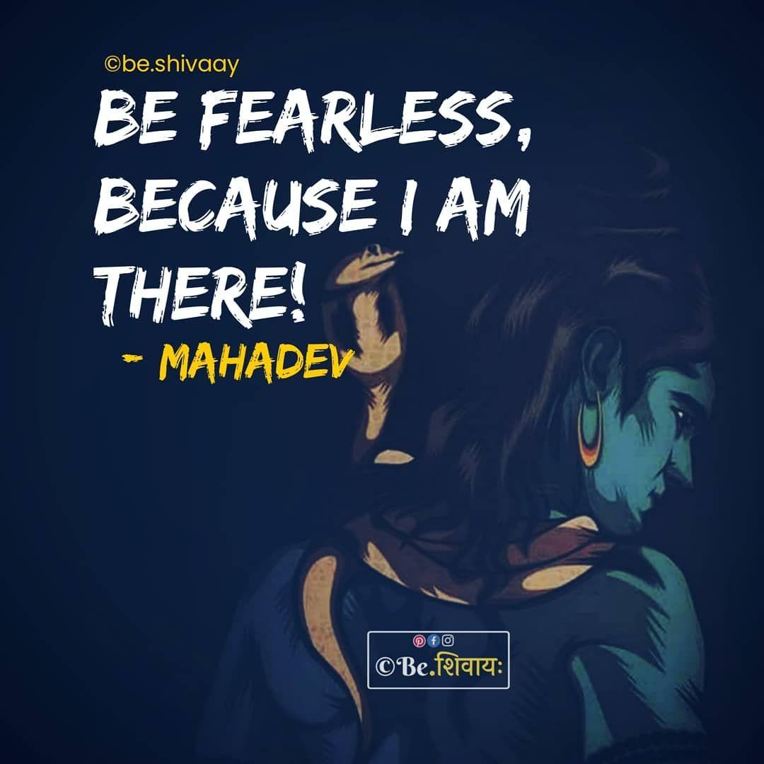 "©BeShivaay💙महादेव on Instagram ""Be fearless, because God"