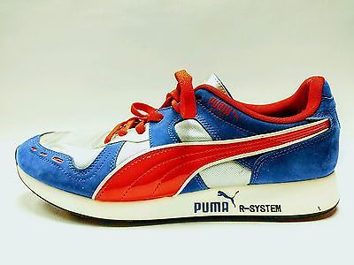 the latest e723c 325c8 Puma R-System RS-100 Sneakers Red Blue Silver Men s size 10 Nice!  Sneakerheadz