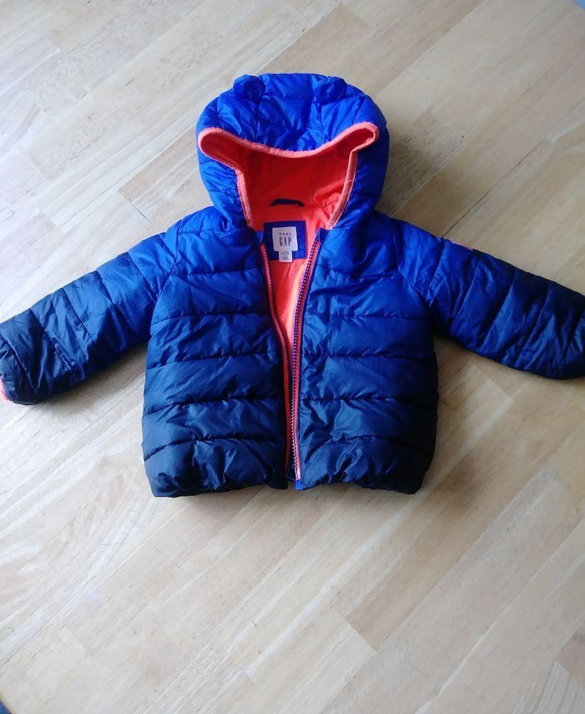 349b26bed893b6 Baby Gap 12-18 M Boys Coat jacket blue and orange  Gap  Jacket ...