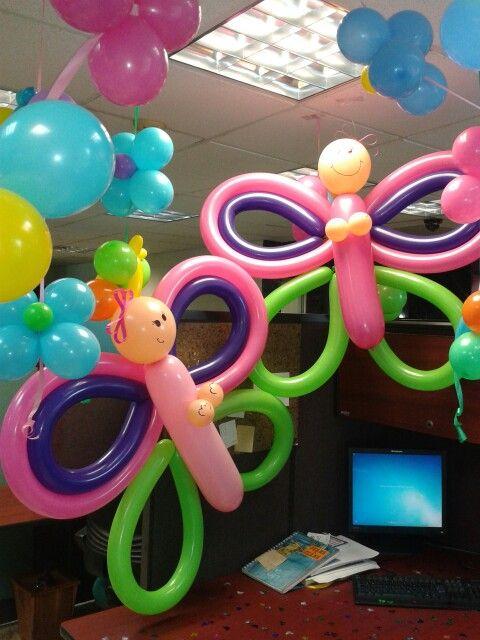 Divertidas simpaticas mariposas con globos decoracion - Decoracion con mariposas ...