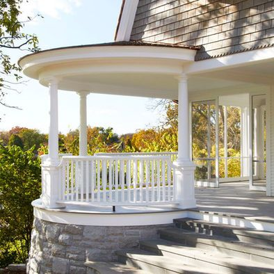 Round Porch Design Ideas Pictures Remodel And Decor Porch Design House With Porch Traditional Porch