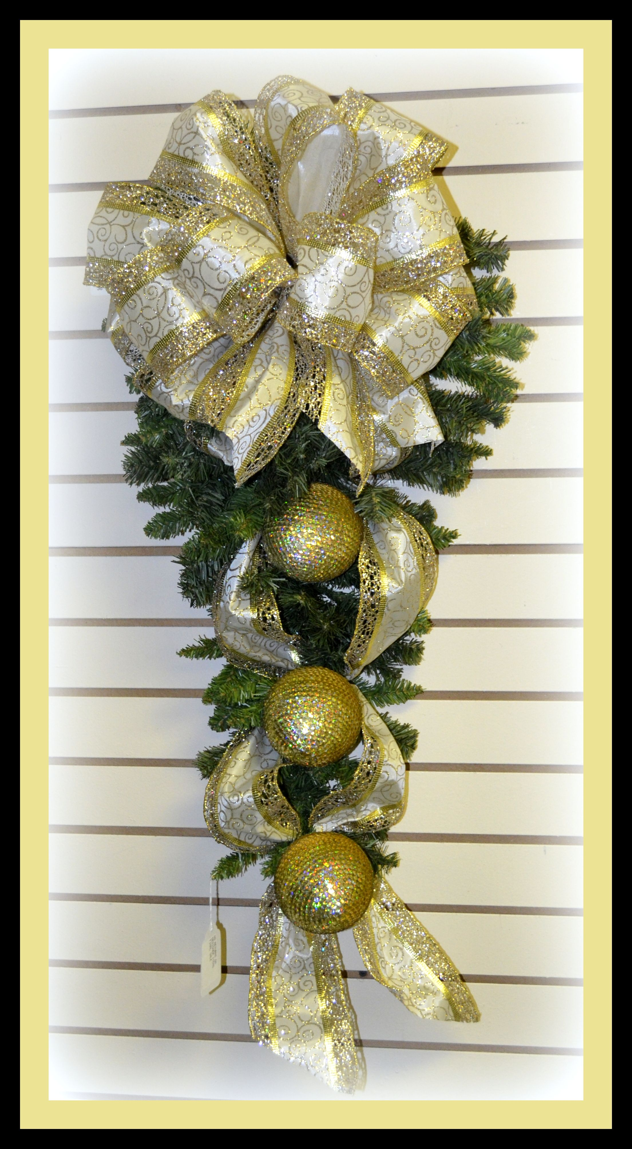 Elegant Christmas Swag Created By Caffco Floral Outlet Designers
