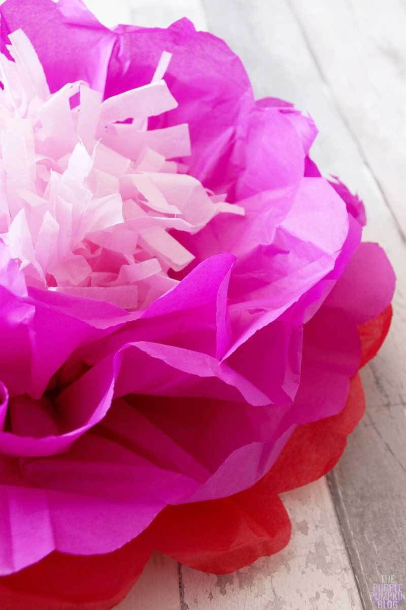 How to make tropical tissue paper flowers pink paradise tropical tissue paper flower izmirmasajfo