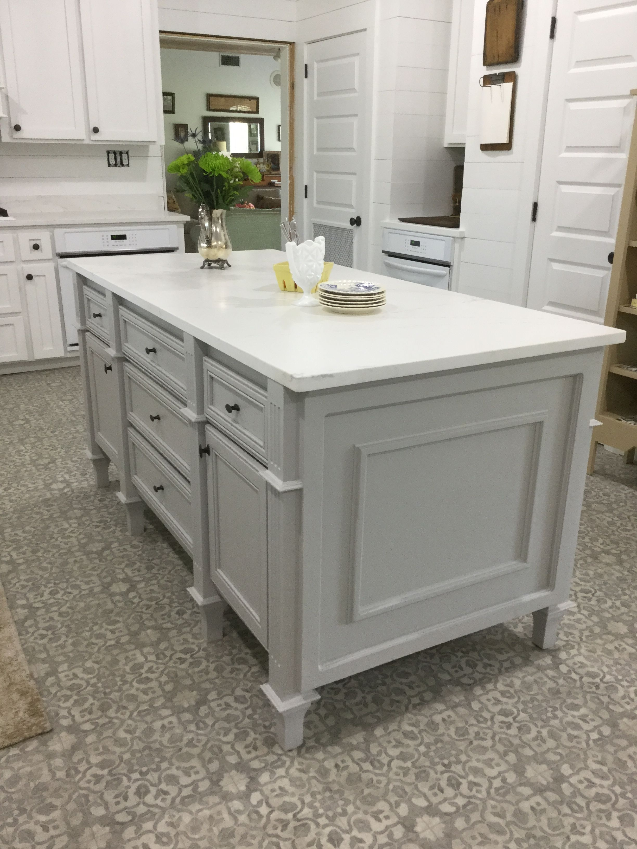 Best My Kitchen Island ️ Sw Light French Gray Wood Accents 640 x 480
