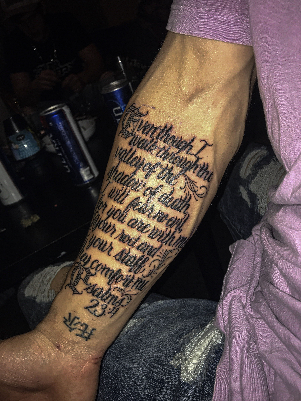 Psalm 23 Tattoo Sleeve : psalm, tattoo, sleeve, Tattoos