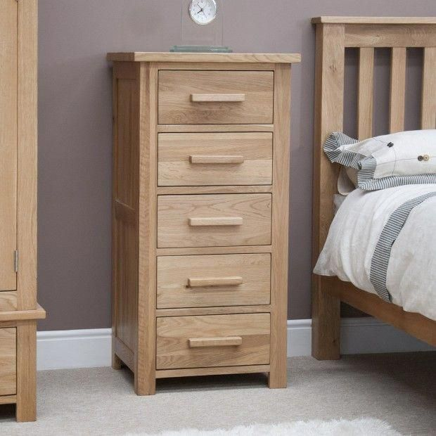 Opus Solid Oak 5 Drawer Tallboy in 2018 Cheap Living Room Sets