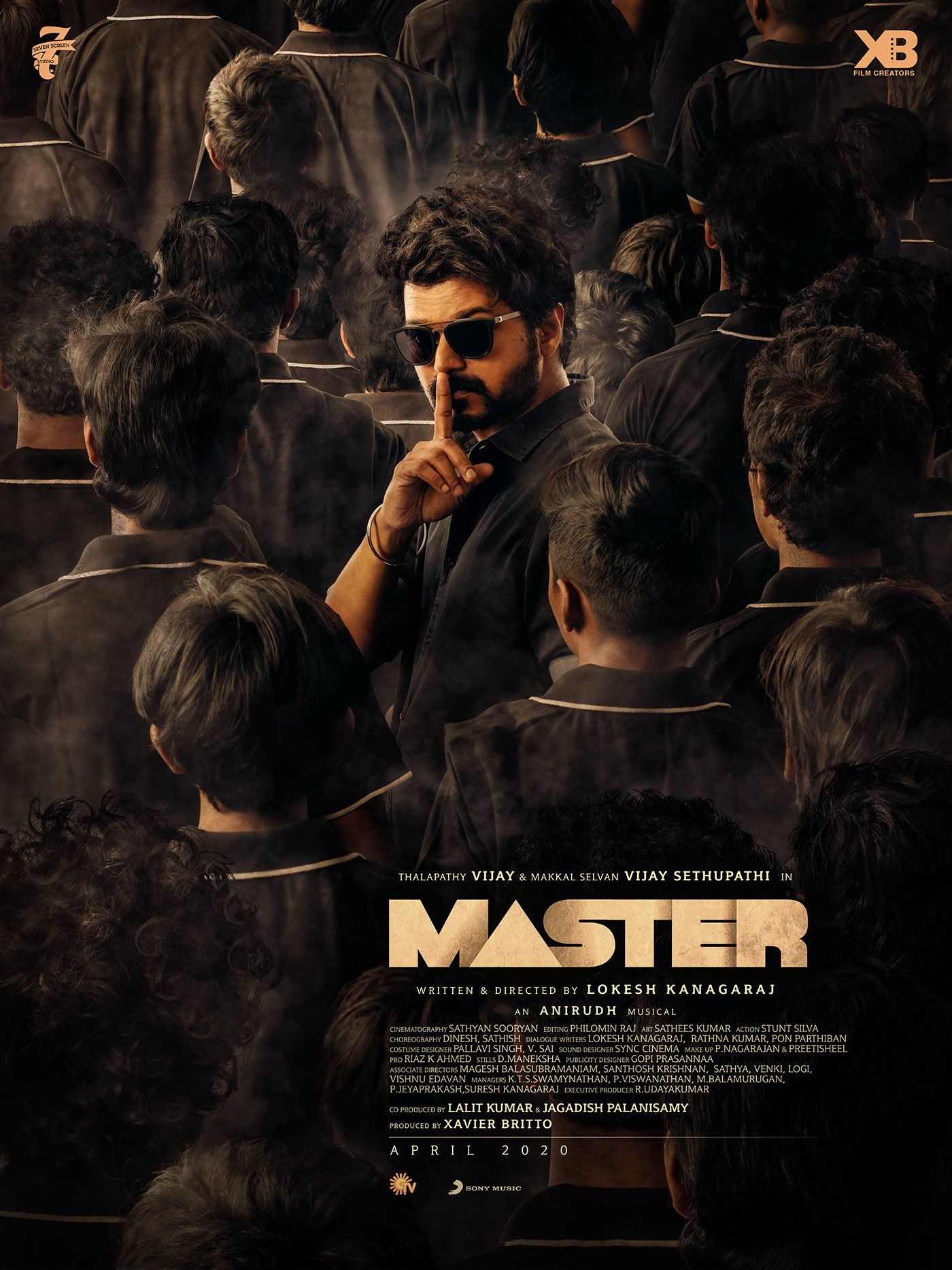Most Awaited Second Look Of Master Starring Thalapathy Vijay Is Here In 2020 New Poster Vijay Actor Tamil Movies