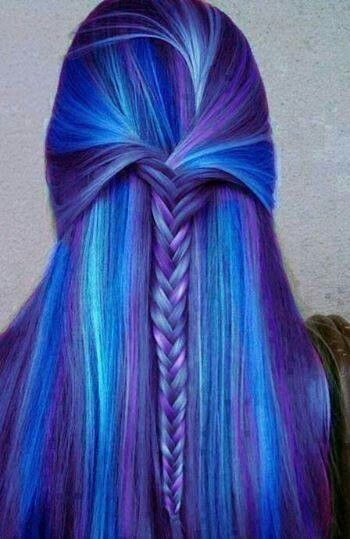 Light blue urple dark blue i love <3