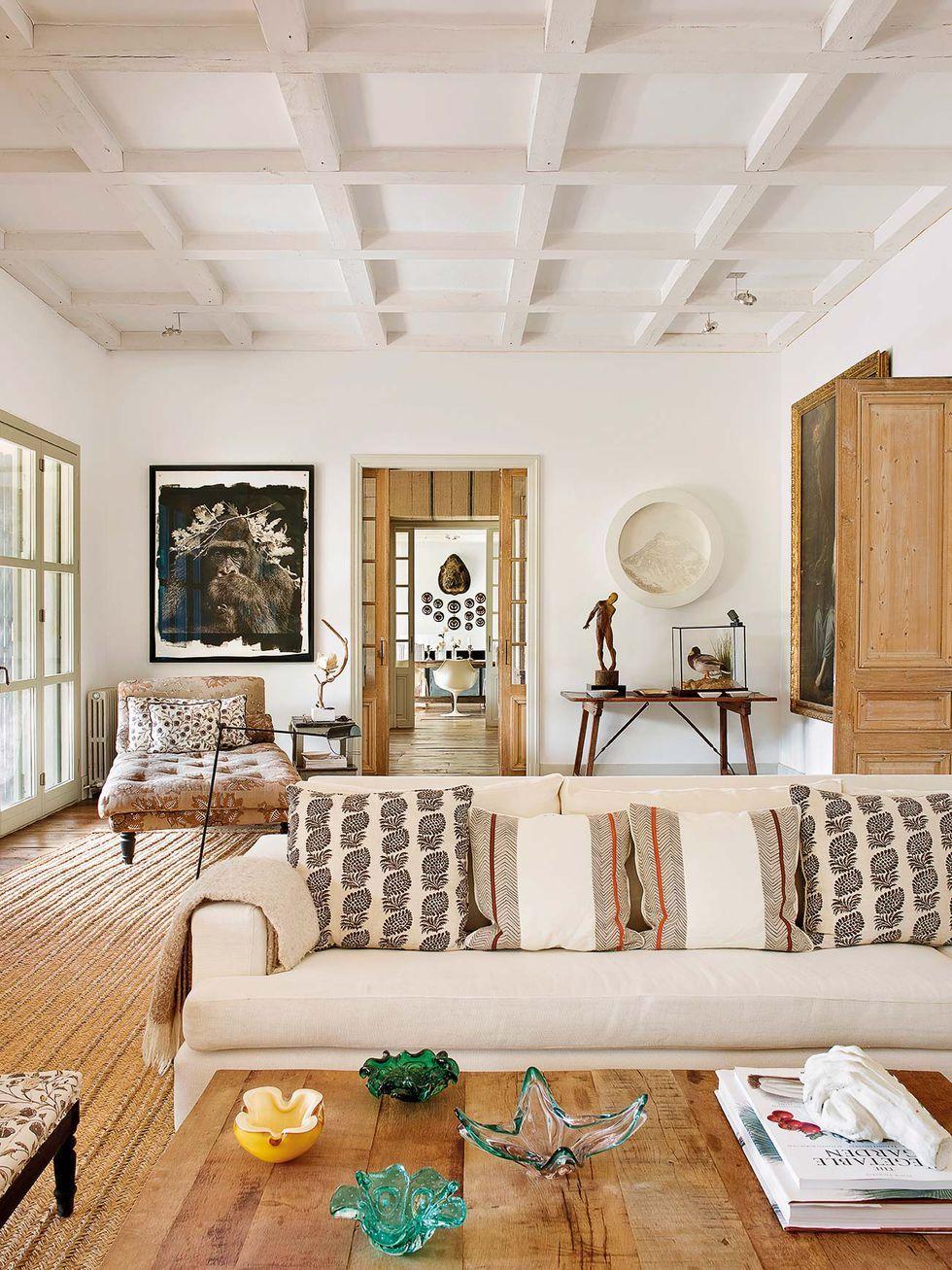 Campo fresco  Diseños de salas, Elle decoracion, Casas de campo