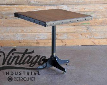 bistro cafe table base heavy duty industrial steel pedestal