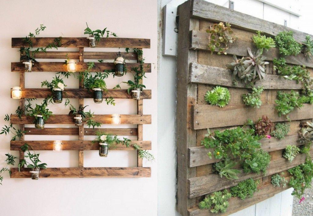 Un jardin vertical en palettes jardiniere interieur - Comment faire un jardin vertical ...