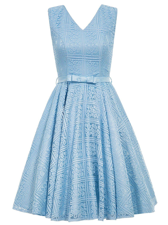 Sisjuly Women Round Neck A-Line 50s Vintage Dress: Amazon.co.uk ...