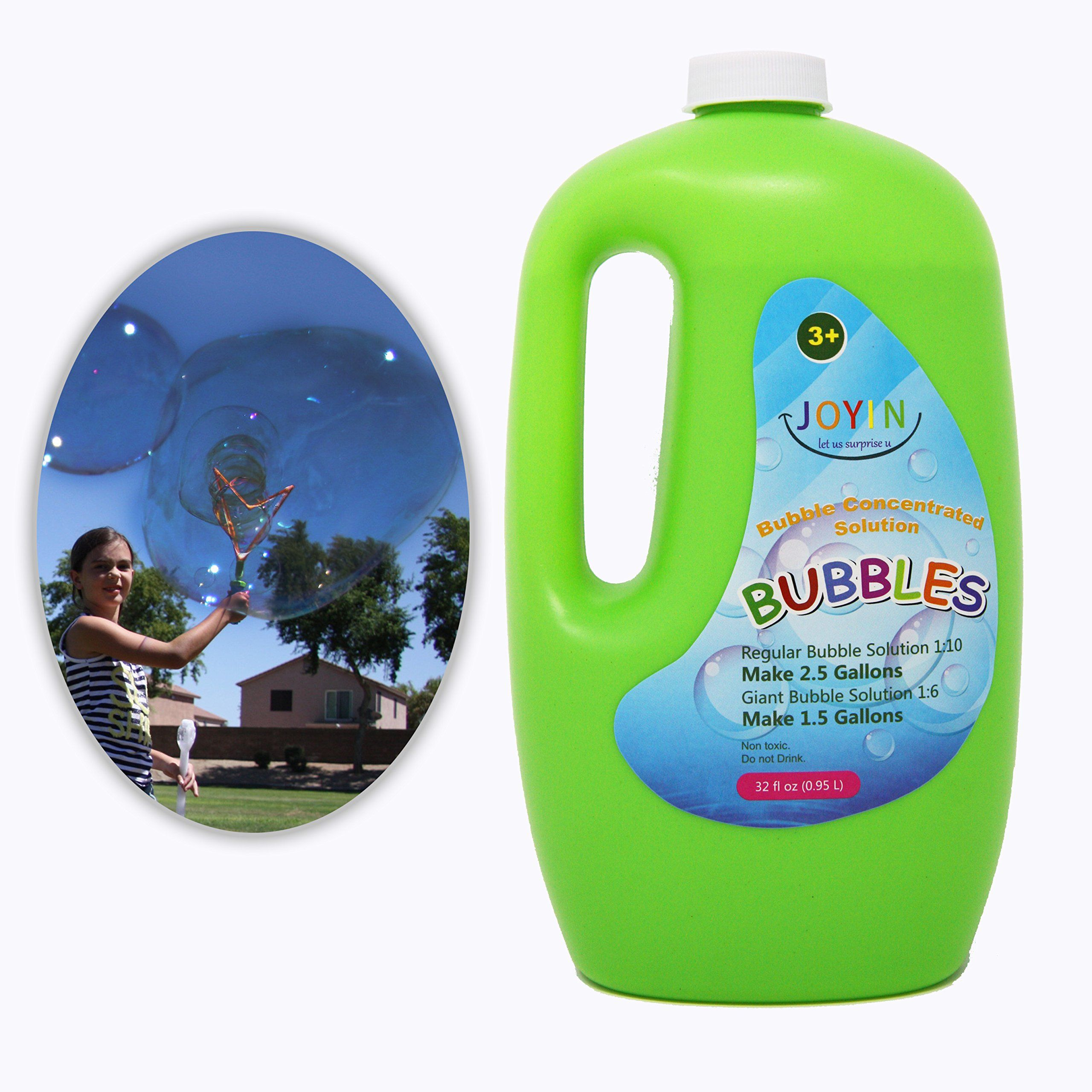 Bubble Solution Refill Up To 2 5 Gallon Big Bubble Solution 32 Ounce Concentrated Solution By Joyin Toy Includes 32 Fl Big Bubbles Bubble Machine Bubbles