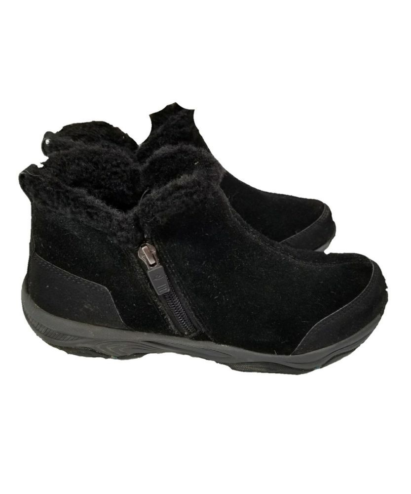2f2e8788d Easy Spirit EXPLORER 24 Size 7.5 Black Suede Toggle Winter Ankle Boots # EasySpirit #WinterBoots #Casual