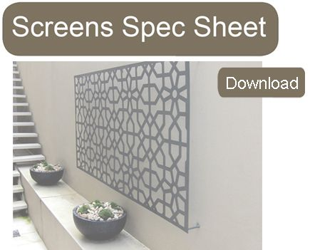 Screen Spec Sheet