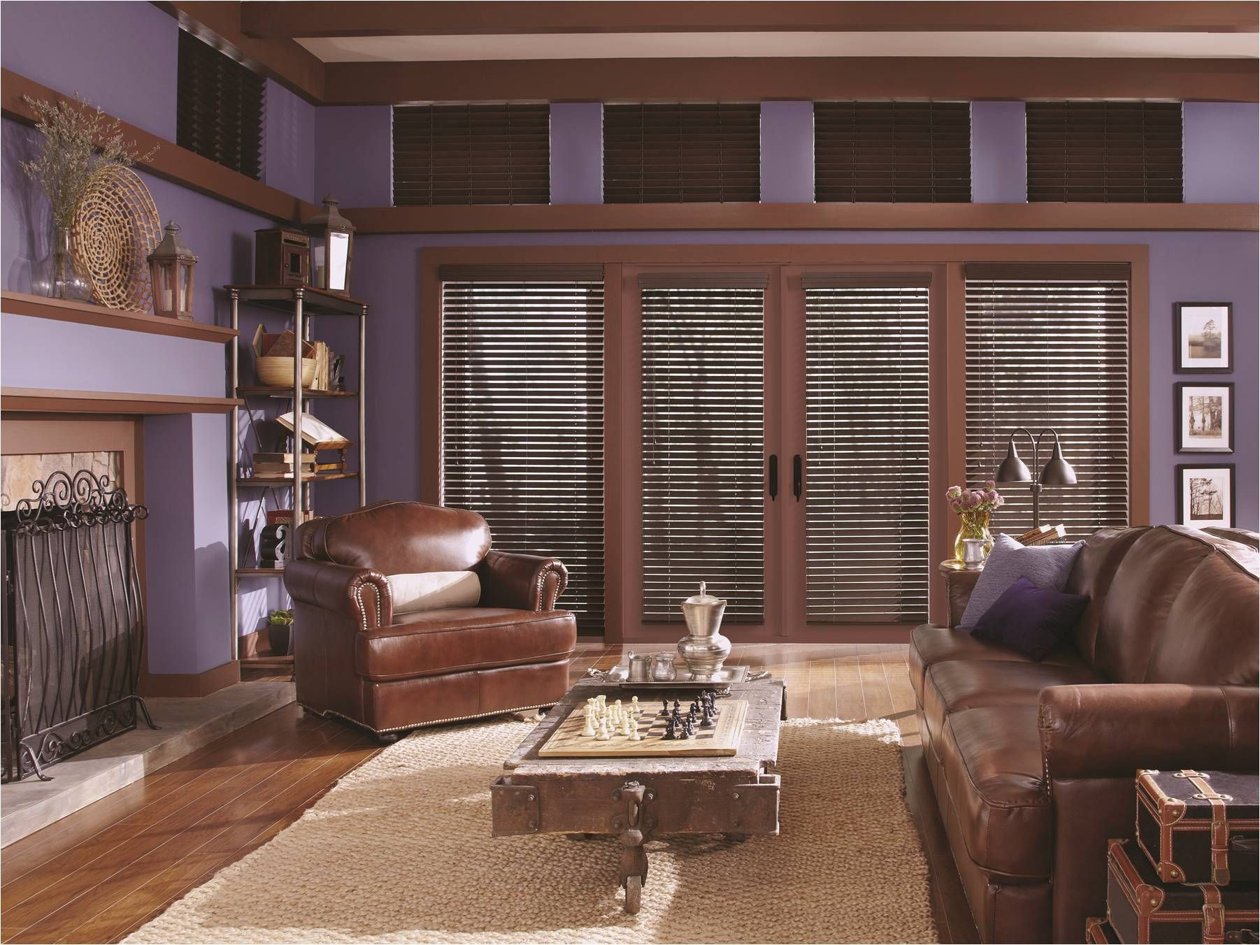 Beautiful Living Room Setting With Horizontal Wood Blinds From Lafayette  Interior Fashions. Great Living Room