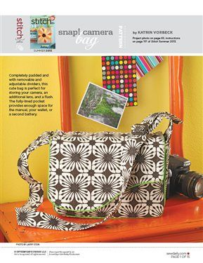 Snap! Camera Bag - Sew Daily