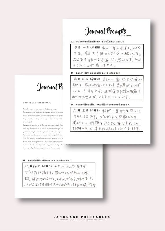 Beginners Japanese Journal Writing Pack Products Japanese