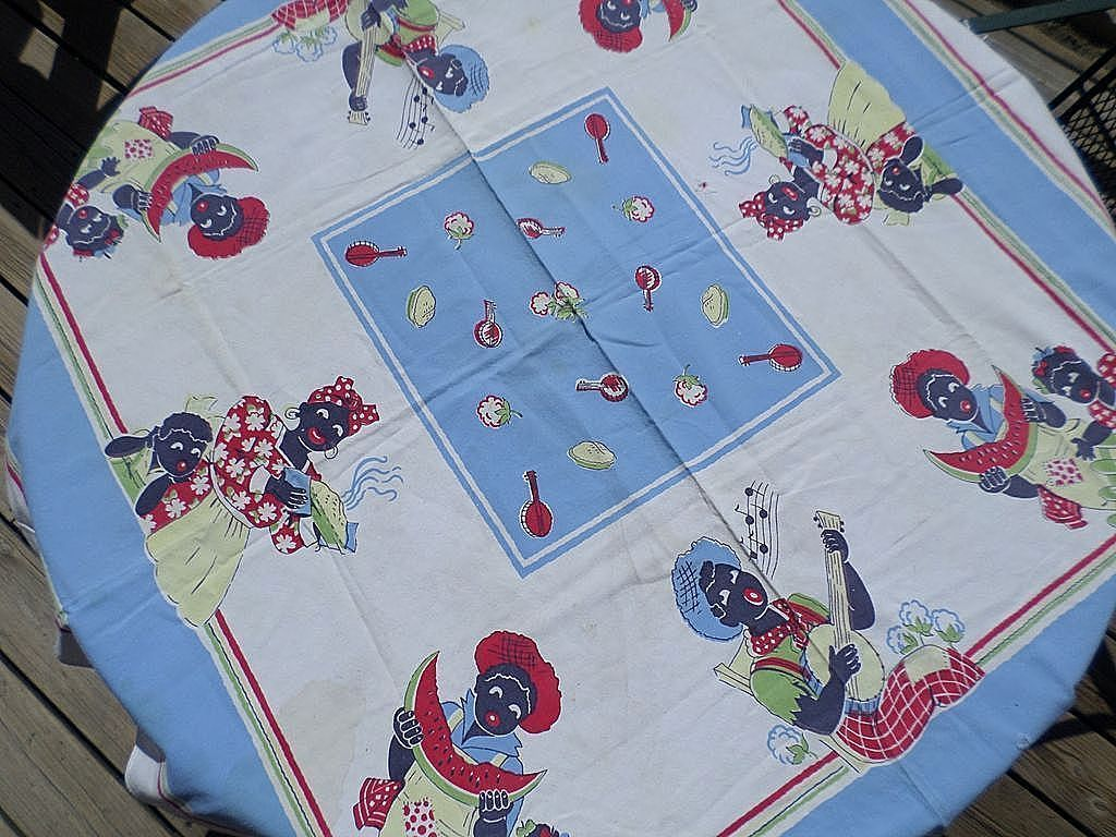 Black Americana Tablecloth