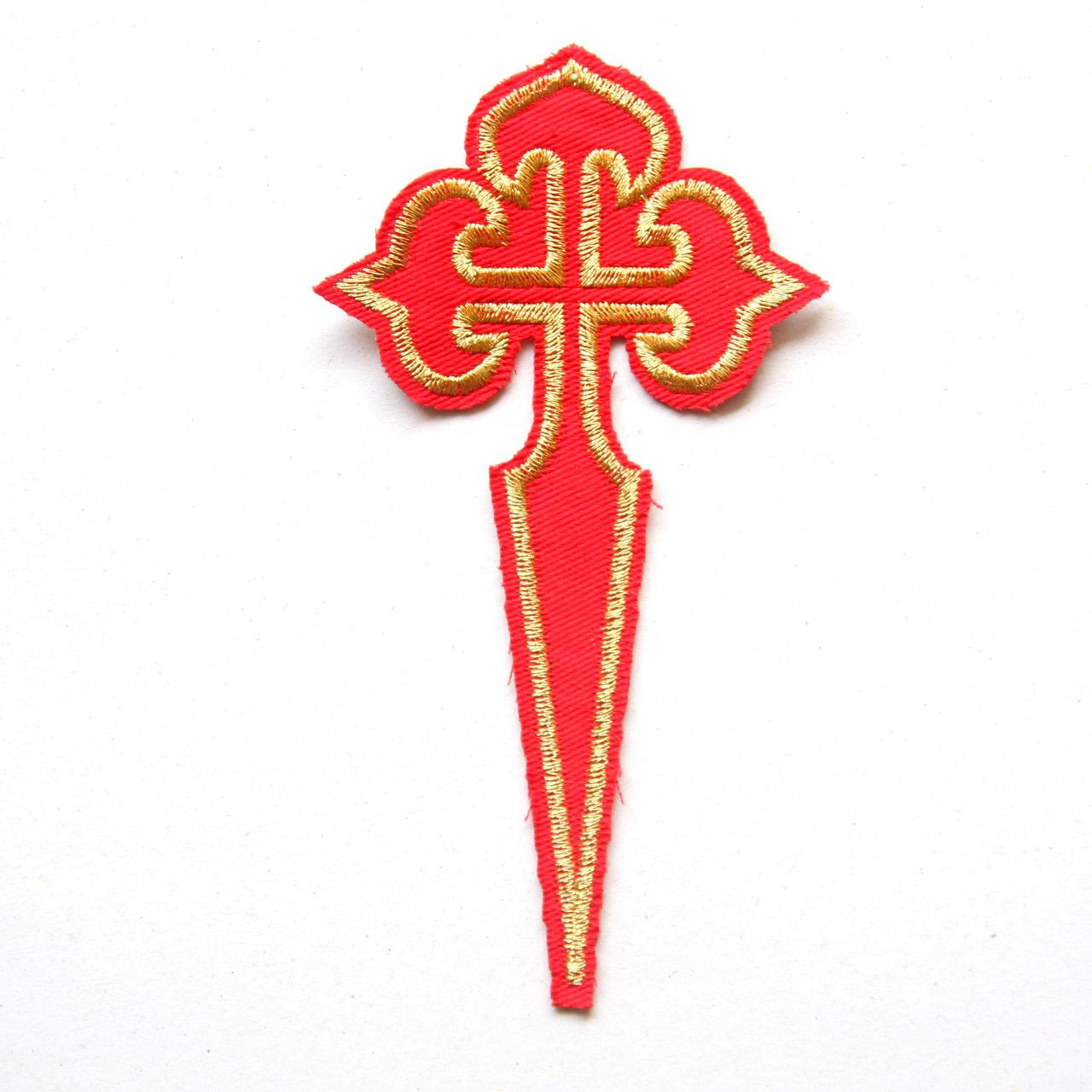 (http://www.spanishdoor.com/camino-de-santiago-pilgrim-st-james-way-cross-cloth-patch-new/) #Camniodesantiago #Stjamescrosspatch
