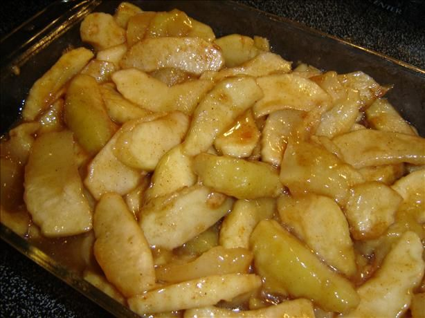 Microwave scalloped apples