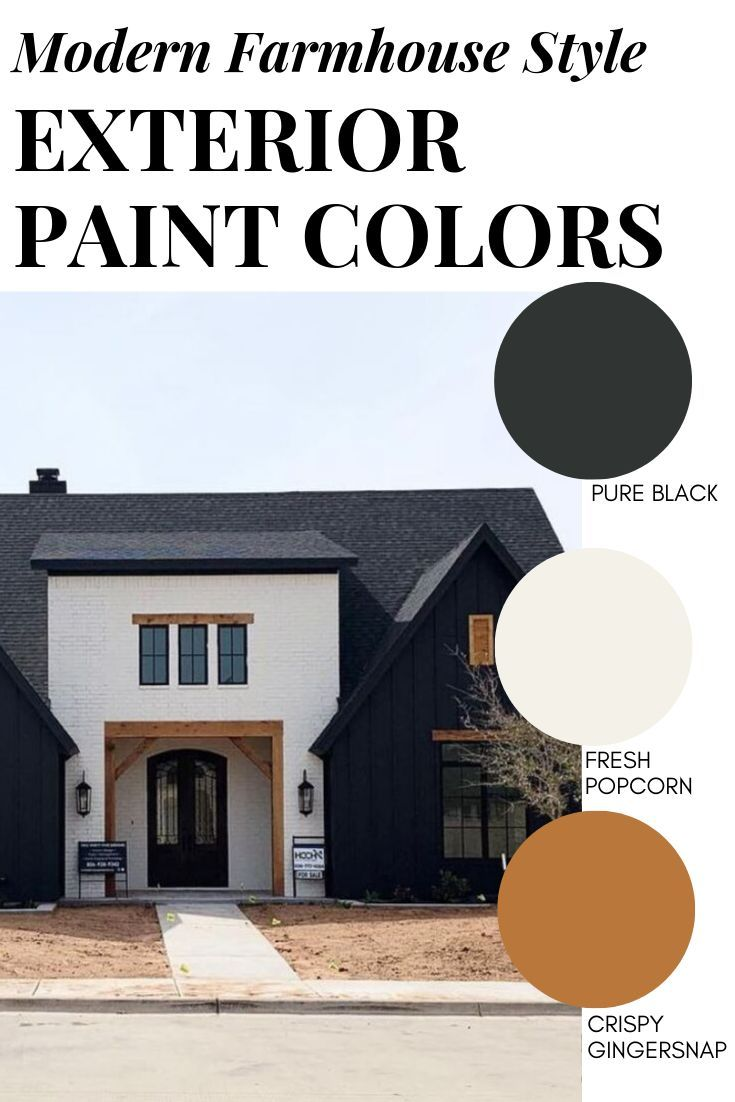 8 perfect color schemes for your modern farmhouse exterior! Get the perfect modern farmhouse paint colors for your upcoming renovation or new build home.