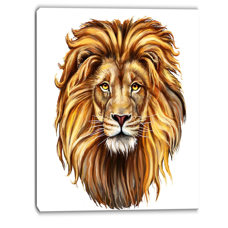вариант голова льва картинка для печати нет