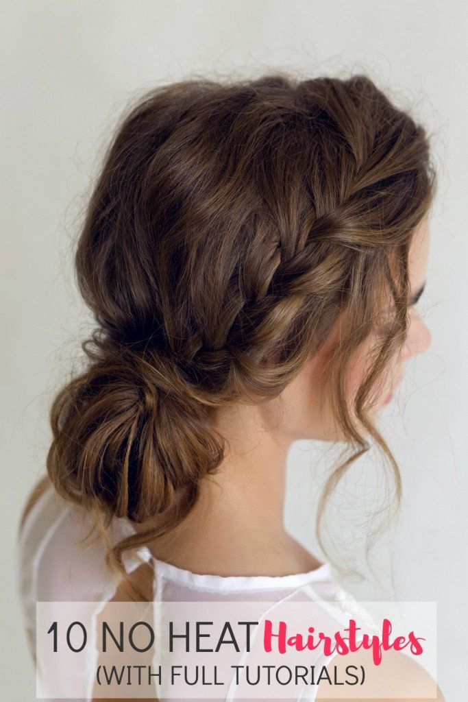 10 No Heat Hairstyles with Full Tutorials   Mom Fabulous Gallery