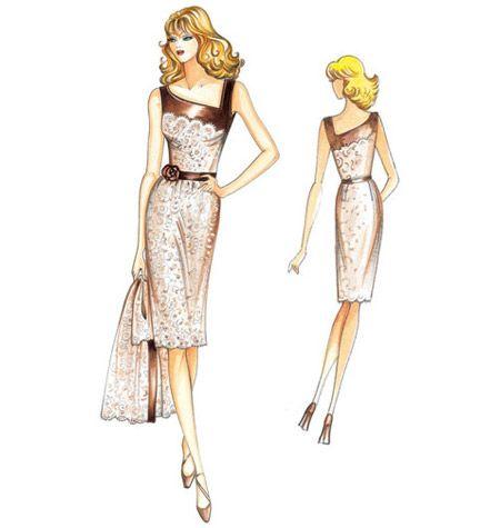 Marfy Dress F1814. | Figurin | Pinterest | Kleider, Schnittmuster ...