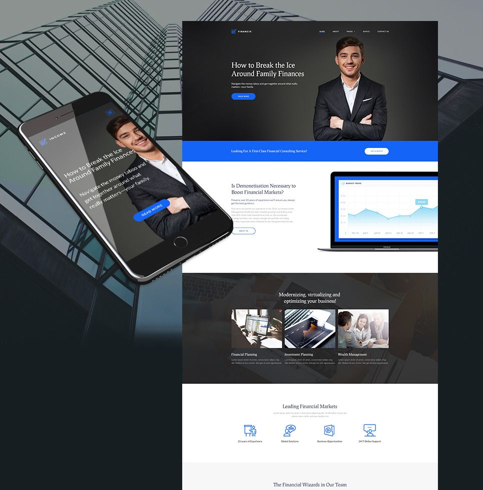 Income premium financial business theme template business website website income premium financial business theme accmission Image collections