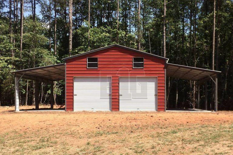 The System Barn 34x25x11 8 Big Buildings Direct In 2020 Garage Door Design Metal Garage Buildings Metal Shop Building