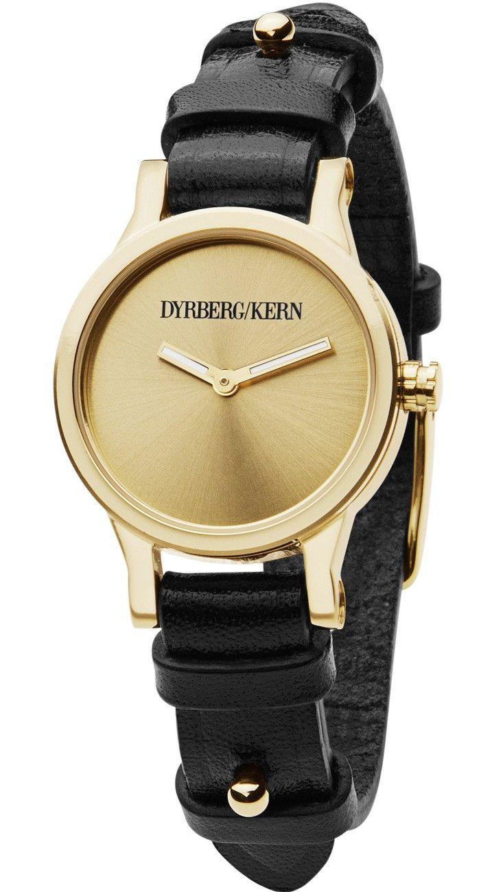 883139e7 Smukt dameur i guld med sort læderrem fra Dyrberg og Kern - Dyrberg/Kern  Prominencia SL 4G1 336017
