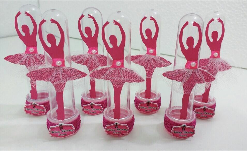 22c2b98dac Tubete bailarina Tubete 13 cm aplique da bailarina com saia feita em tule