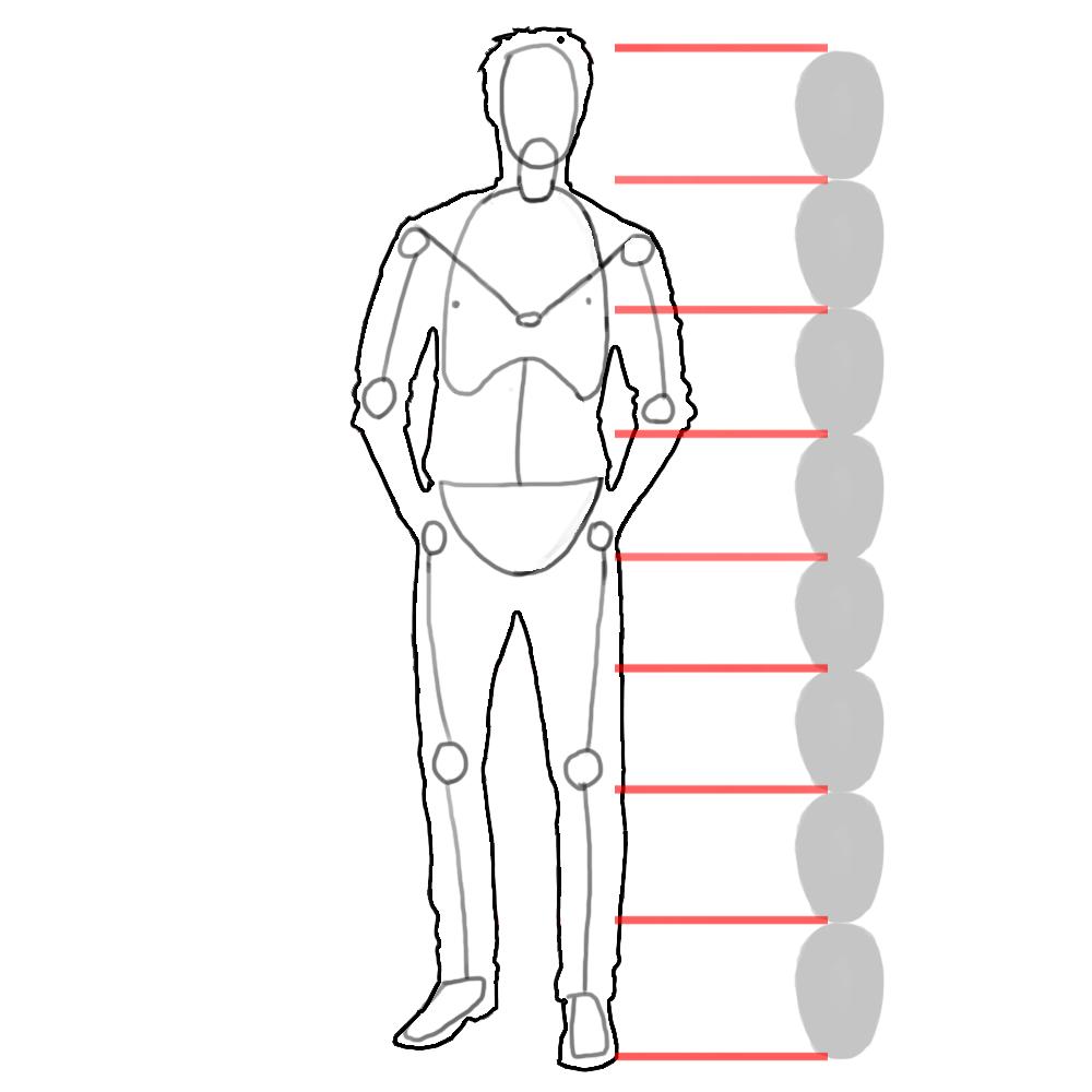 Схема как нарисовать человека