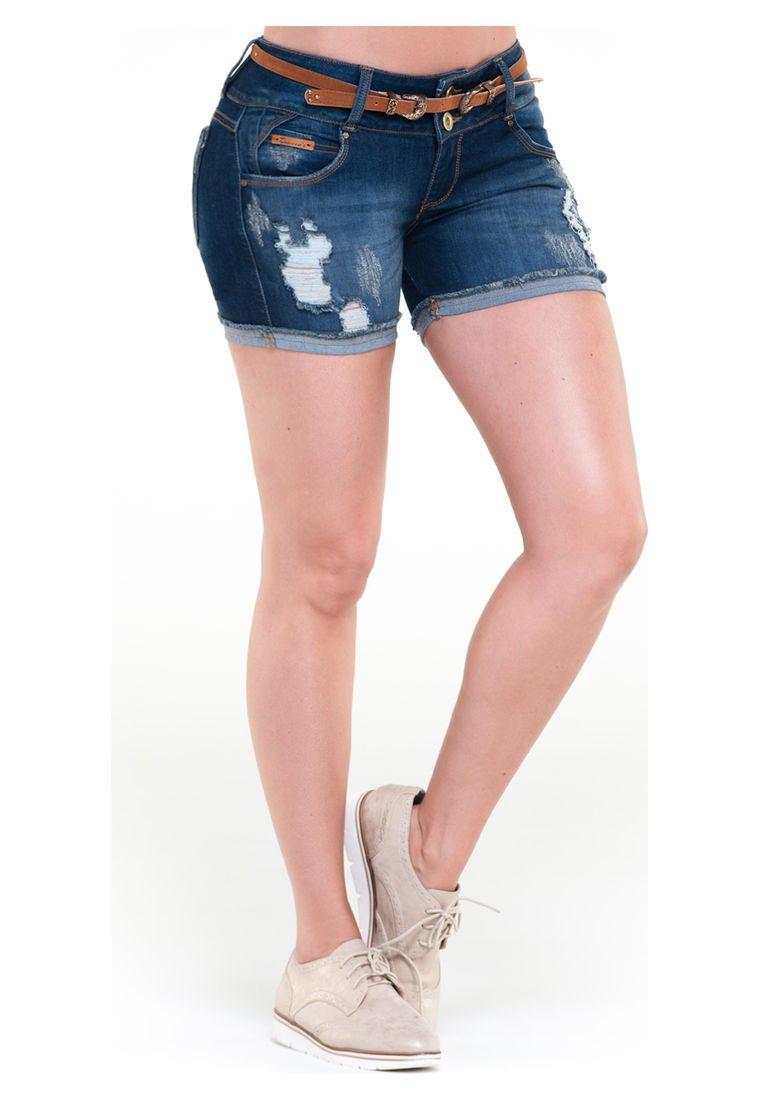 bc4b6432a Short azul Trucco s Jeans 5331 - Compra Ahora