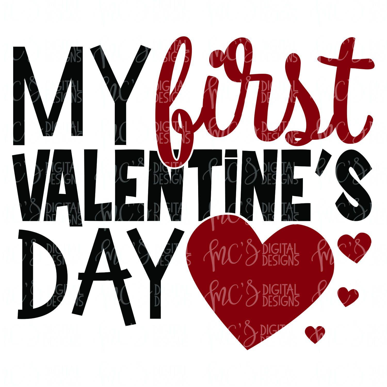 Digital Download My First Valentine S Day 1st Valentines Etsy Valentines Day Vinyl Designs