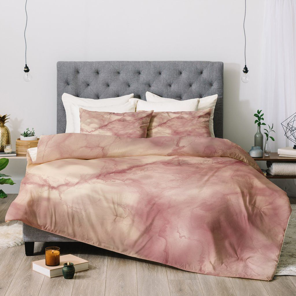 Chelsea Victoria Rose Gold Marble Comforter The Future