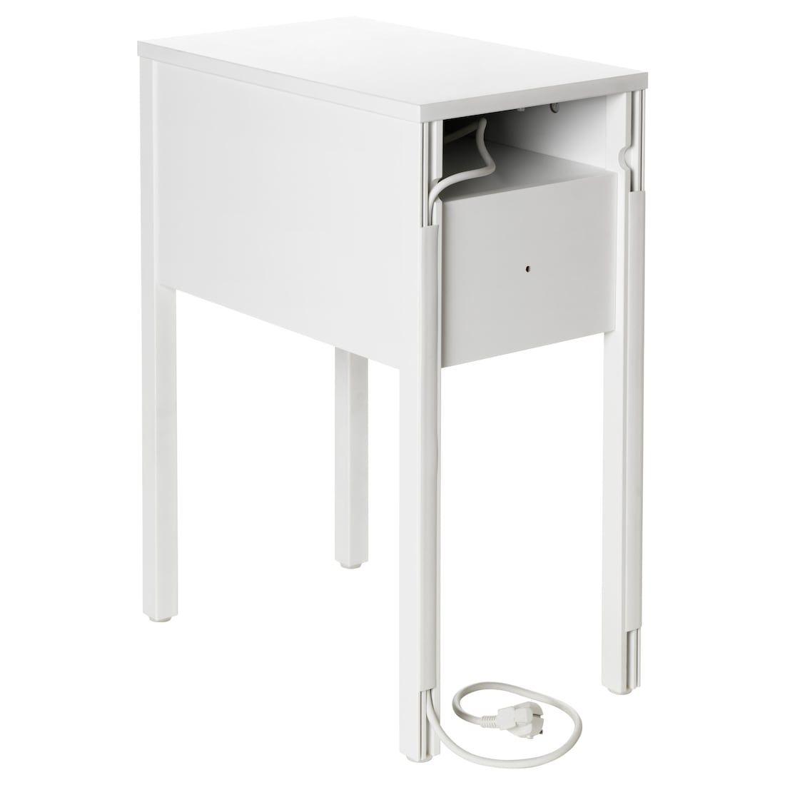 Nordli Table De Chevet Blanc 30x50 Cm En 2020 Table De Chevet Blanche Table De Chevet Table De Chevet Ikea