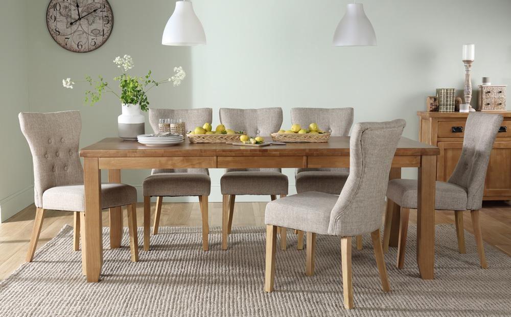 Highbury Oak Extending Dining Table with 6
