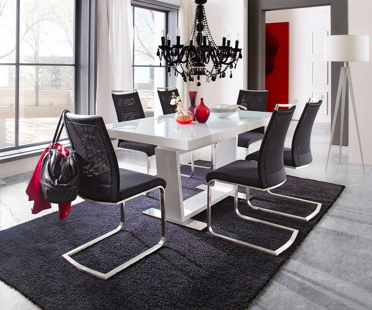 Esstisch 160 Ausziehbar esstisch salem 160 240x90 weiss hochglanz ausziehbar möbel tische