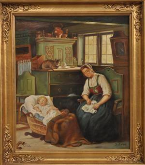 Lauritz Com Ubekendt Maler 1900 Tallet Julius Exner Kopi Efter Kopi Folk Painting