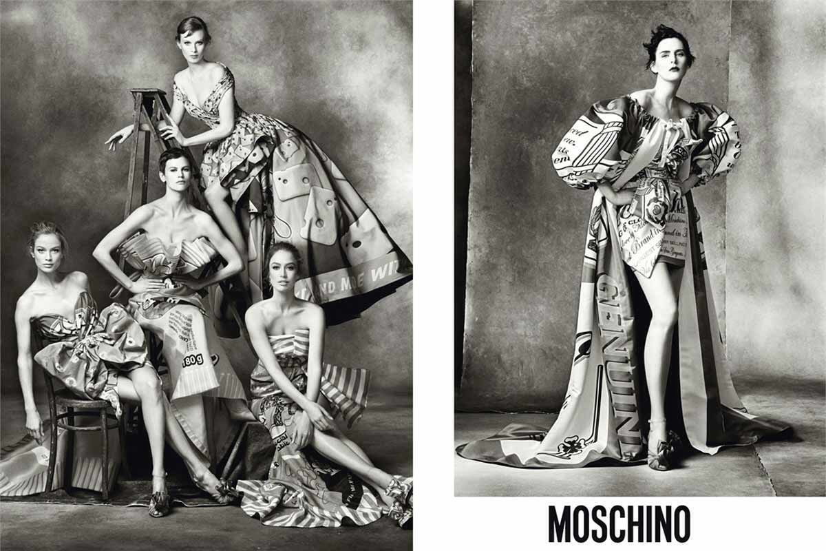 Steven Meisel fotografía a las tops de los 80 para Moschino