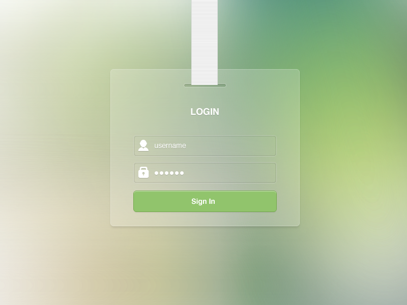 Login Free PSD by Logoswish / Maxim