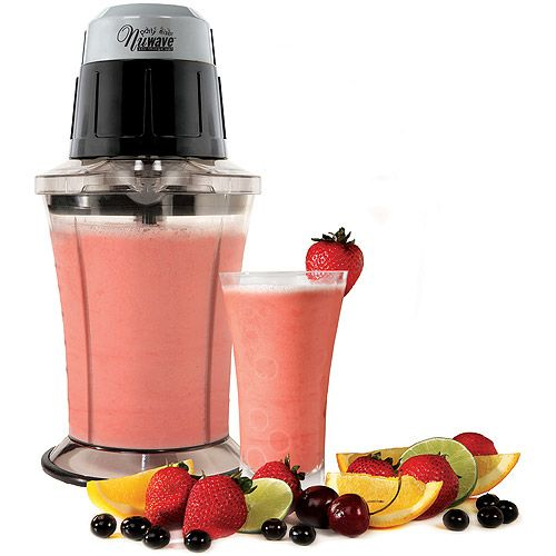 As Seen on TV NuWave Party Mixer: Dishwasher and freezer-safe 4 durable blades Seal and store lid Excellent for making frozen drinks, snow cones, salsa, soups, smoothies and more Holds up to 6 cups (48 ounces).'