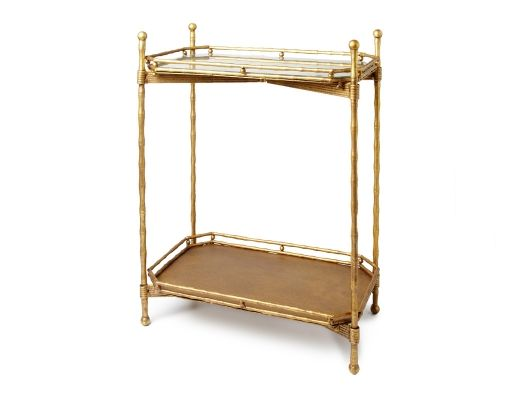 Two-Tiered Gold Side Table from Emily Henderson on OpenSky