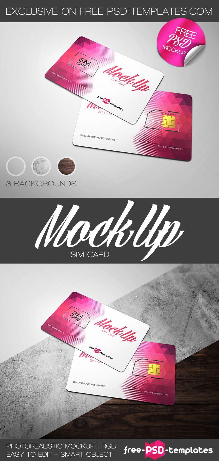 Free Sim Card Mockup PSD Free PSD Templates free