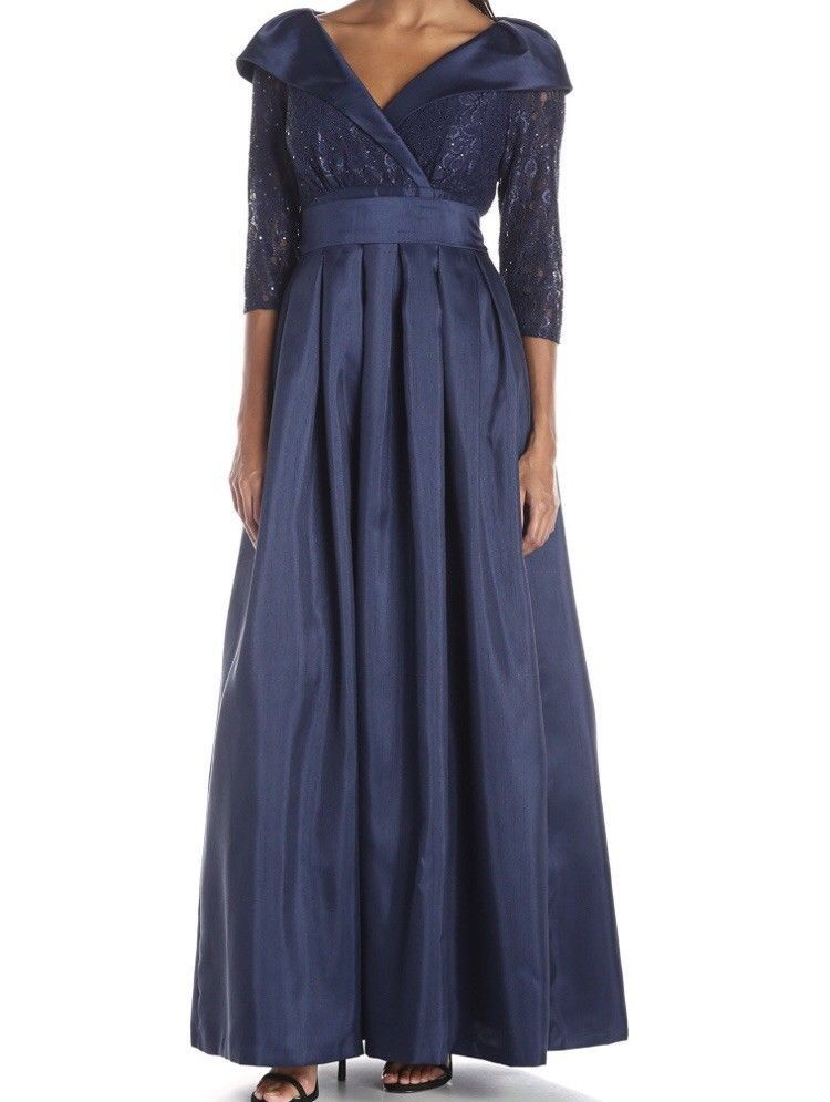 430bda401b5 NWT Jessica Howard evening gown dress navy 14 Mother of Bride   Groom  wedding