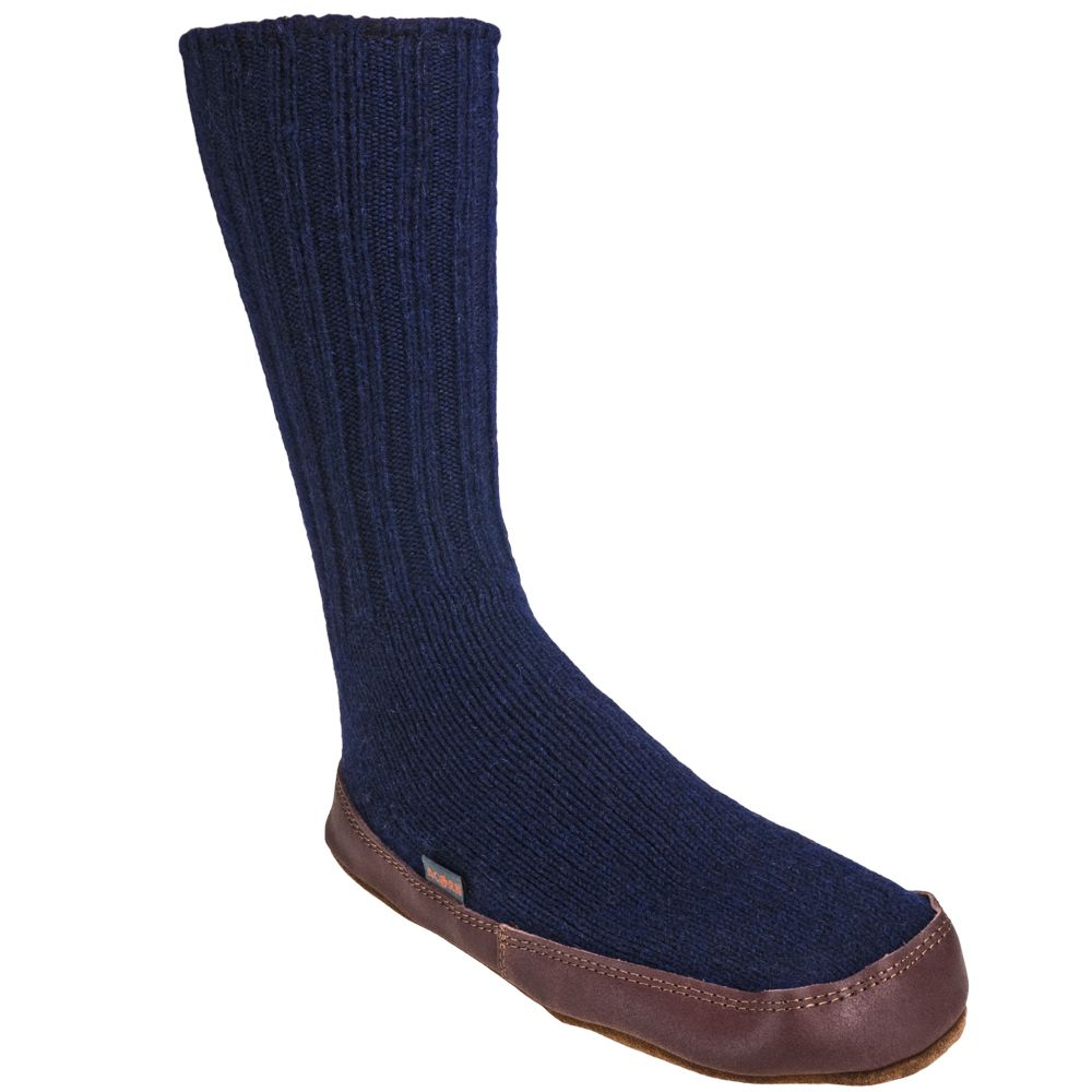 Acorn Slippers Women's A10118 CWL Cobalt Original Wool Slipper Socks