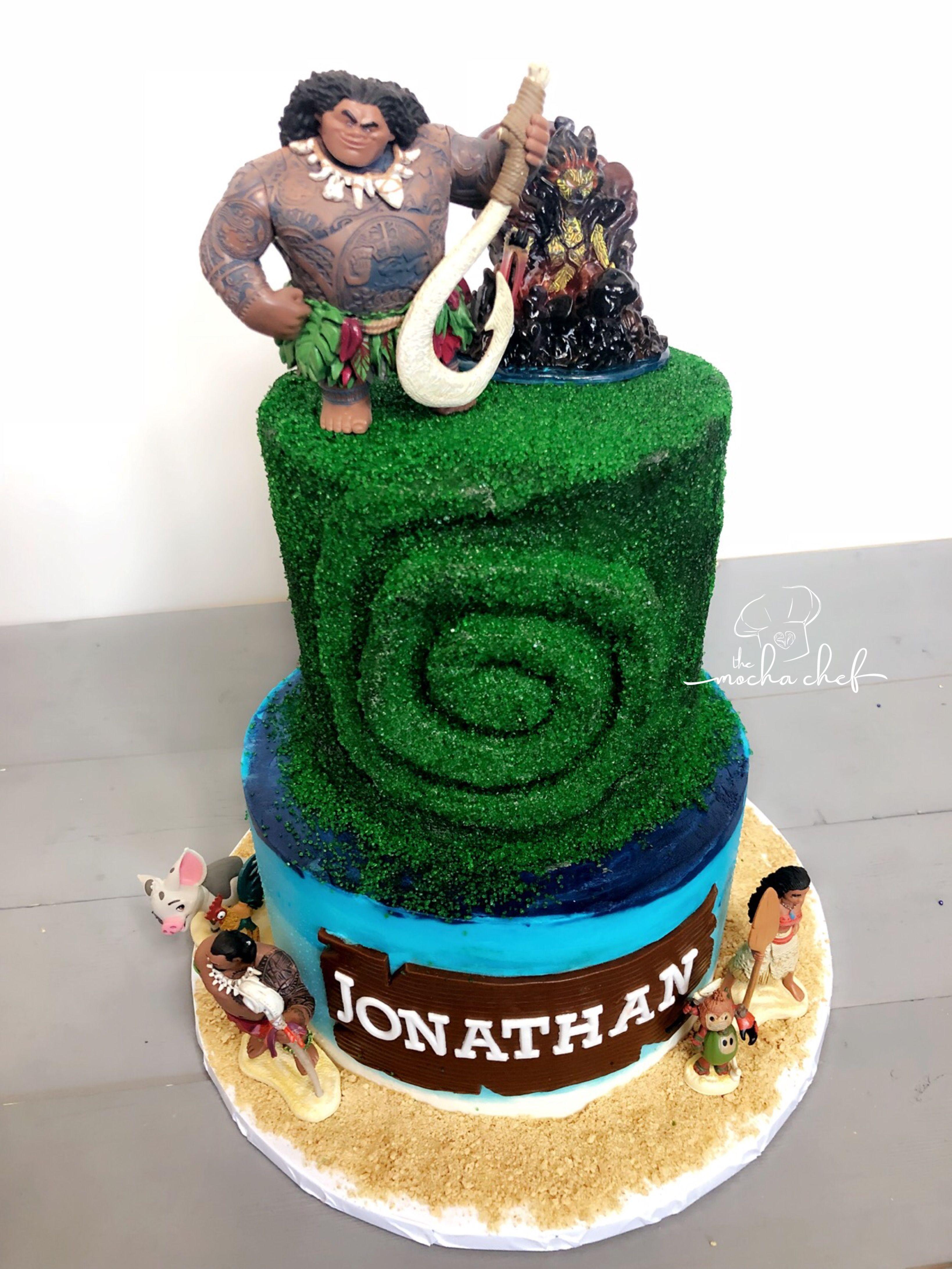 Moana/ Maui Cake   The Mocha Chef in 2019   Birthday cake, Cake ...